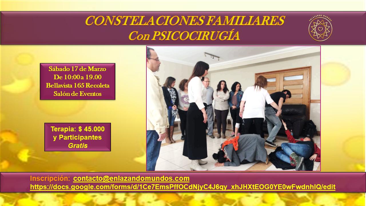 Constelaciones Familiares Grupales c/Psicocirugía