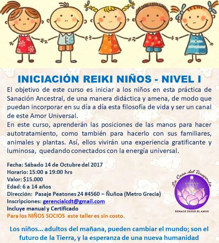 INICIACIÓN REIKI NIÑOS NIVEL I - SHODEN