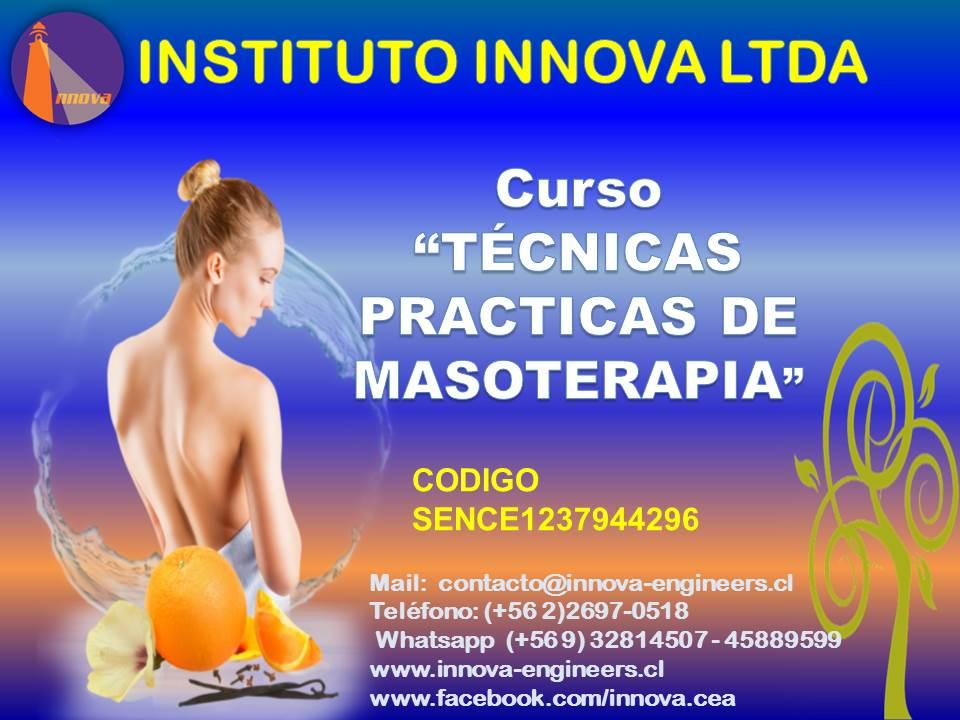 CURSO TÉCNICAS PRACTICAS DE MASOTERAPIA