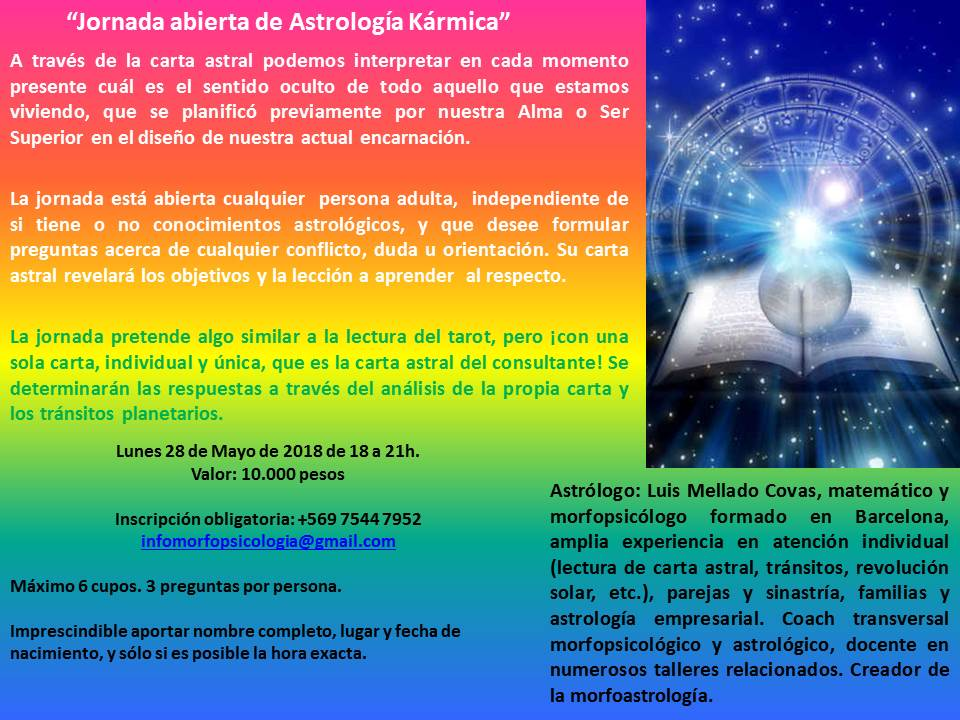 Jornada abierta de Astrología Kármica