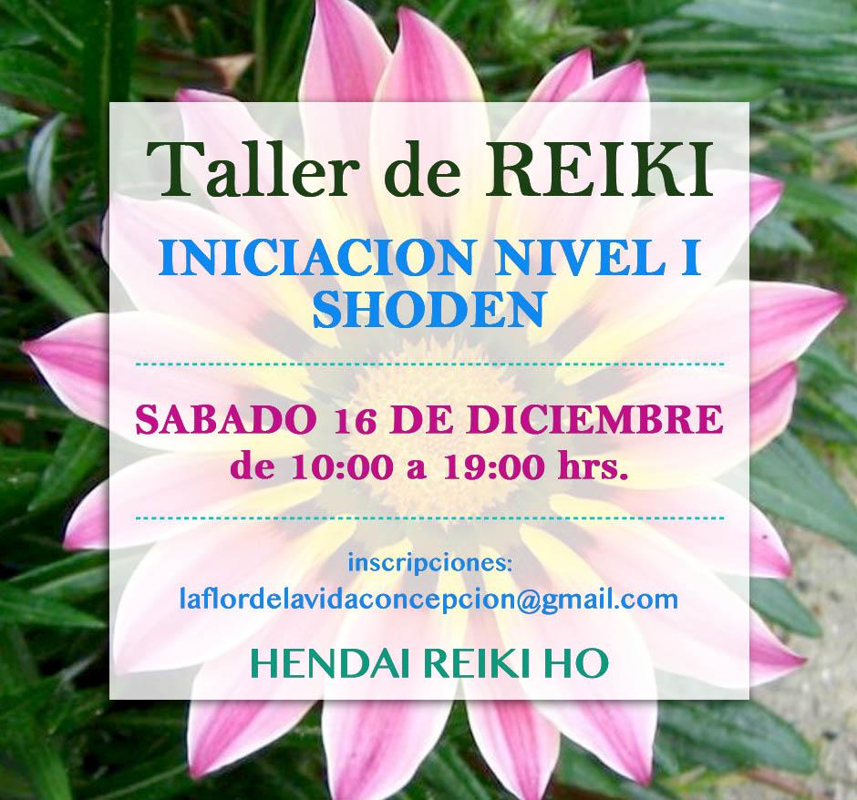 TALLER DE INICIACION REIKI NIVEL I SHODEN