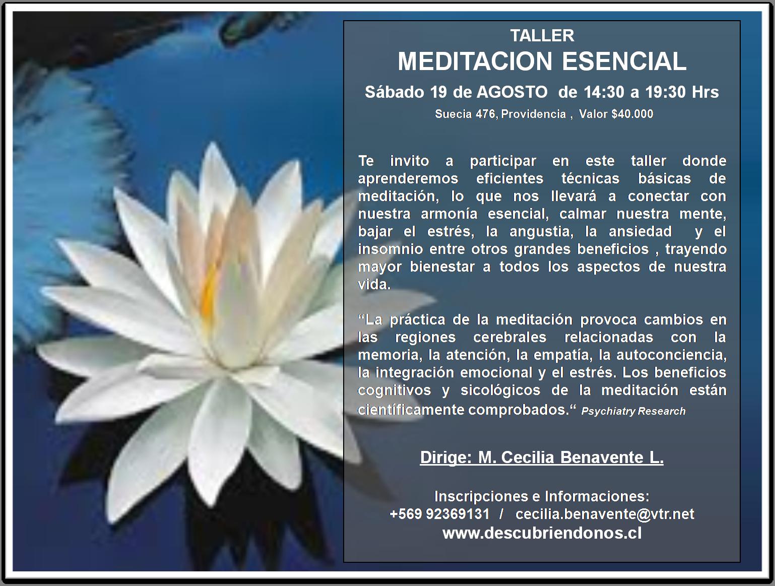 Taller Meditación Esencial