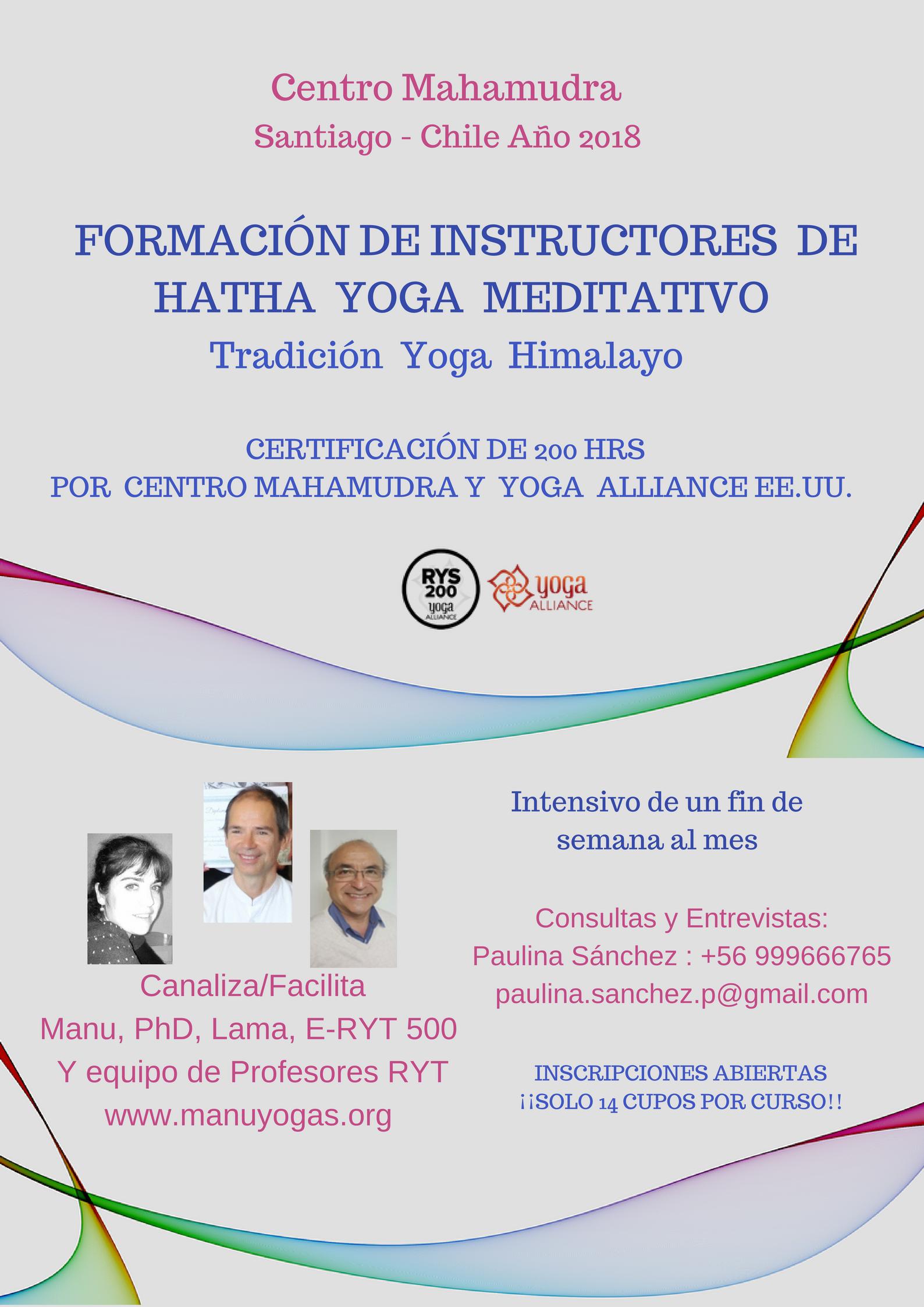 FORMACION DE INSTRUCTORES DE HATHA YOGA MEDITATIVO
