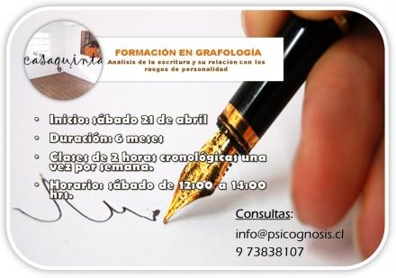 Curso de Formación en Grafología