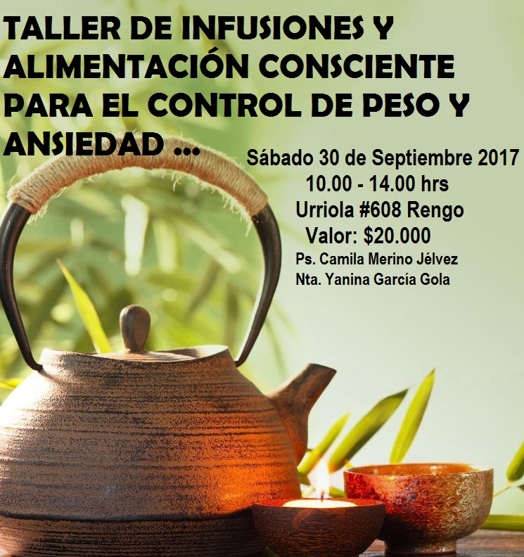 TALLER DE INFUSIONES Y ALIMENTACIÓN CONSCIENTE