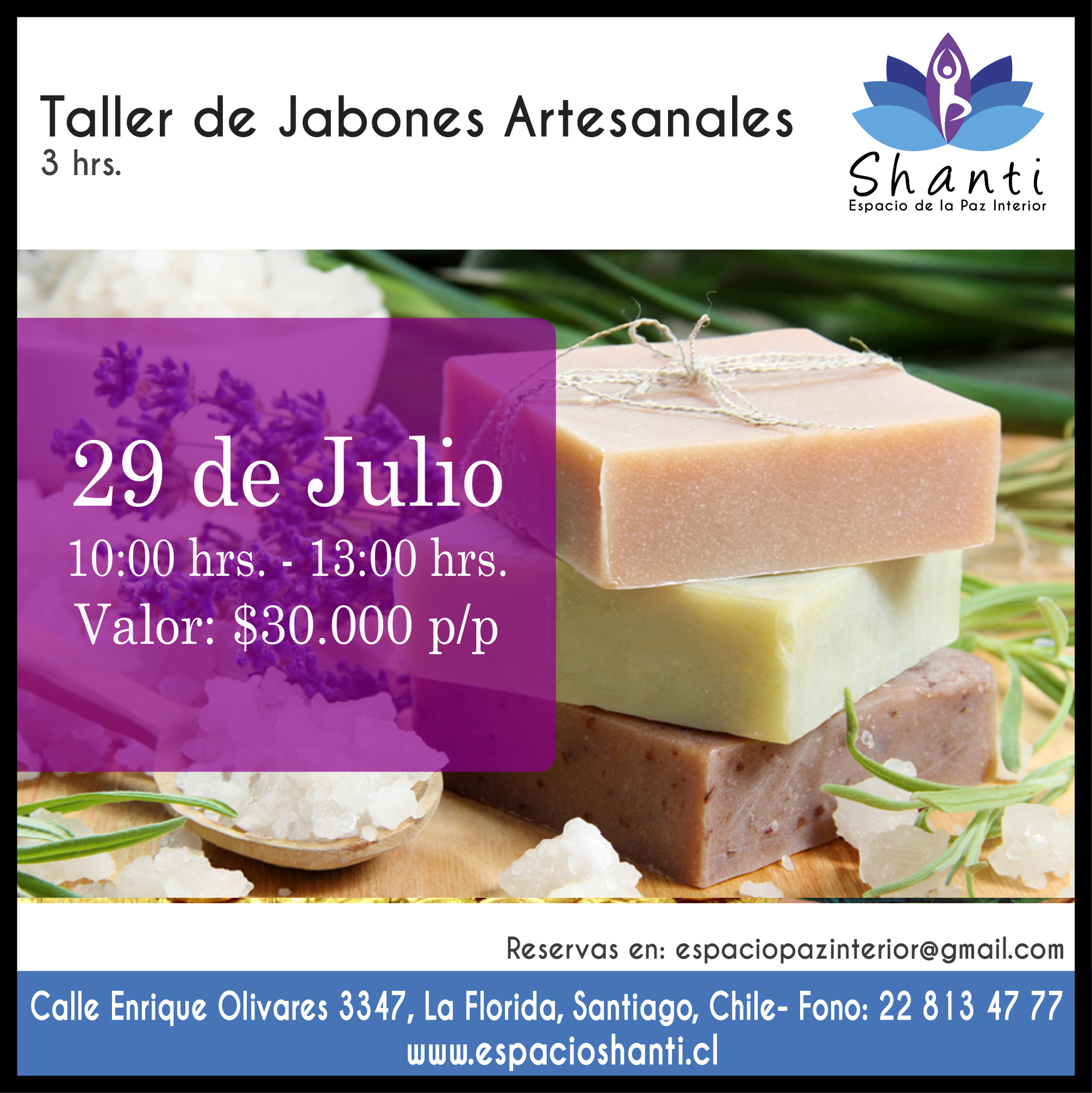 Taller jabones artesanales terapeutas de chile for Talleres artesanales