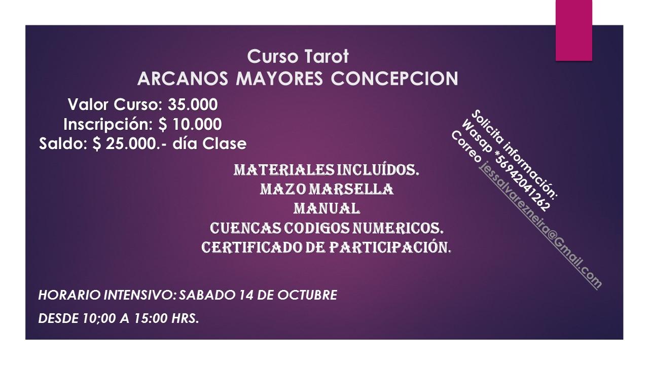 curso TAROT ARCANOS MAYORES TALLER